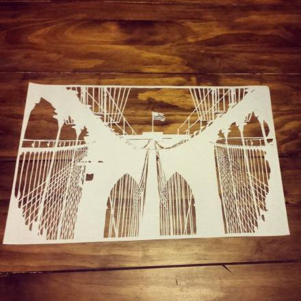 Brooklyn Bridge Papercut